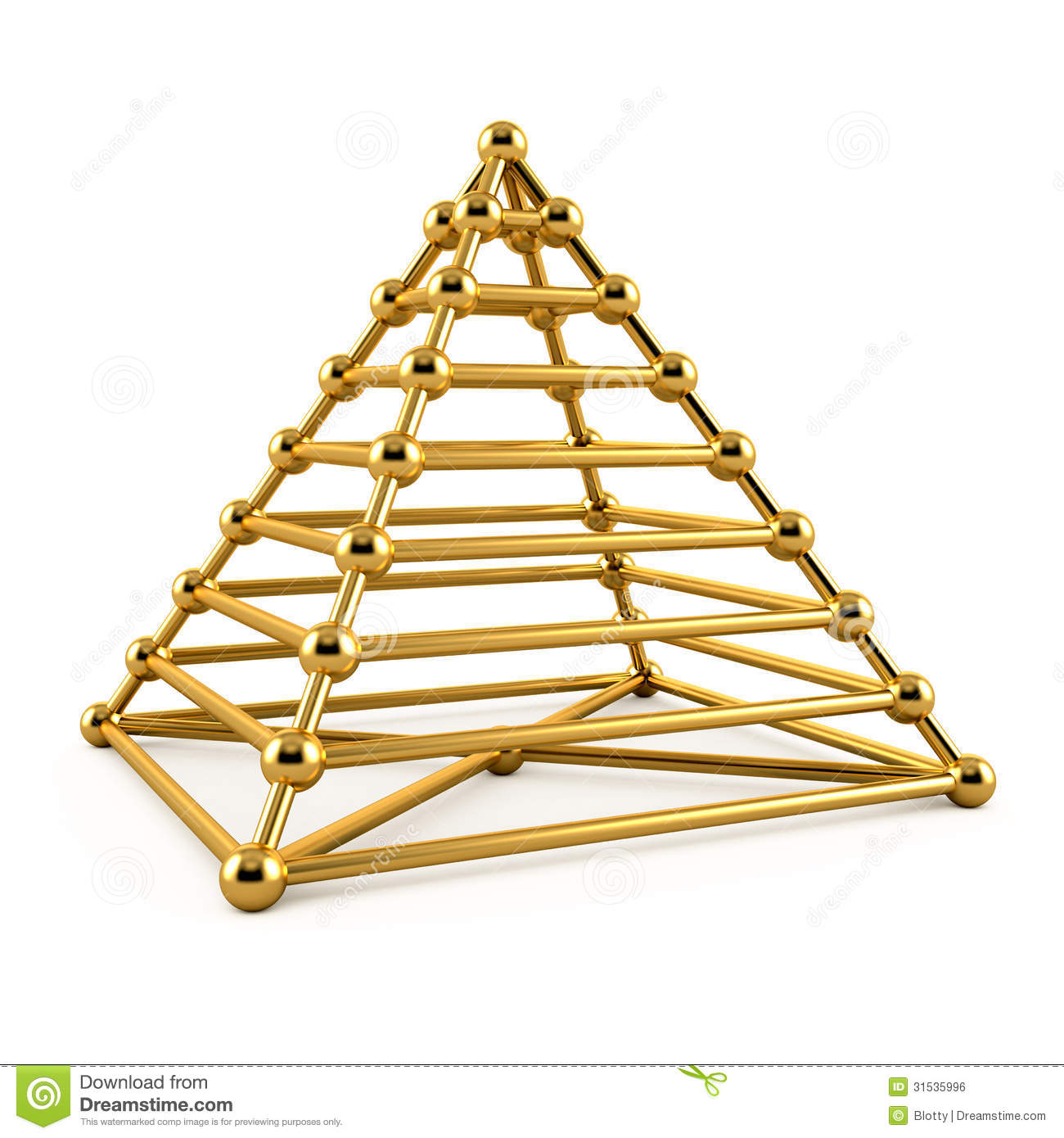 Home Design 3d Gold Ideas: Abstract 3d Illustration Of Golden Pyramid Stock
