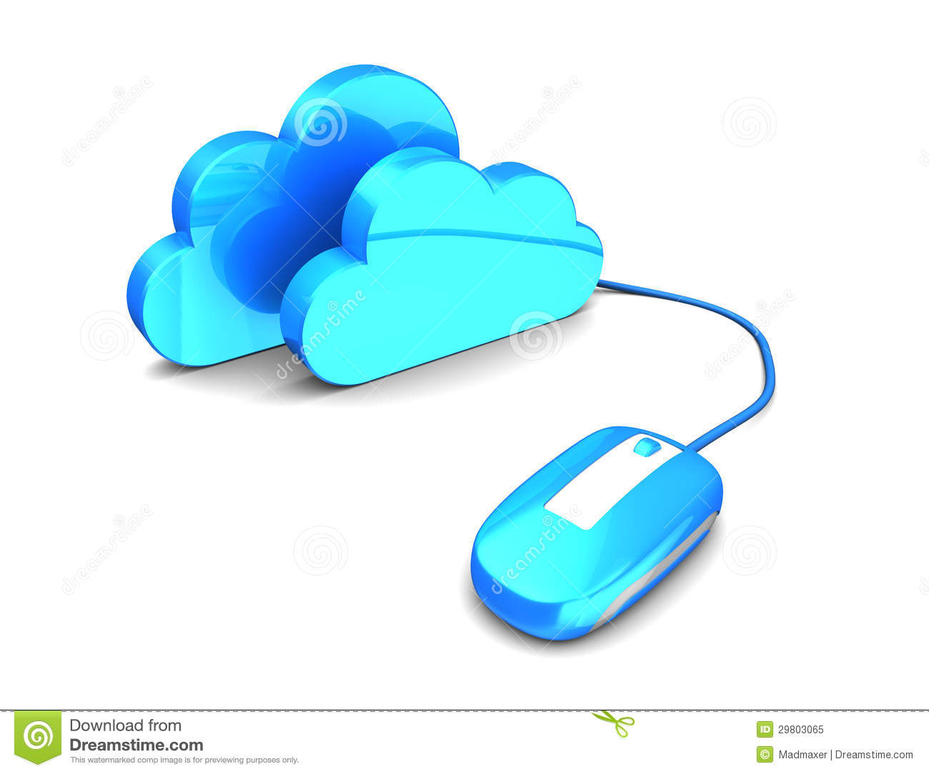 ... 3d illustration of mnouse connected to clouds, cloud storage concept: dreamstime.com/royalty-free-stock-photo-abstract-d-illustration...