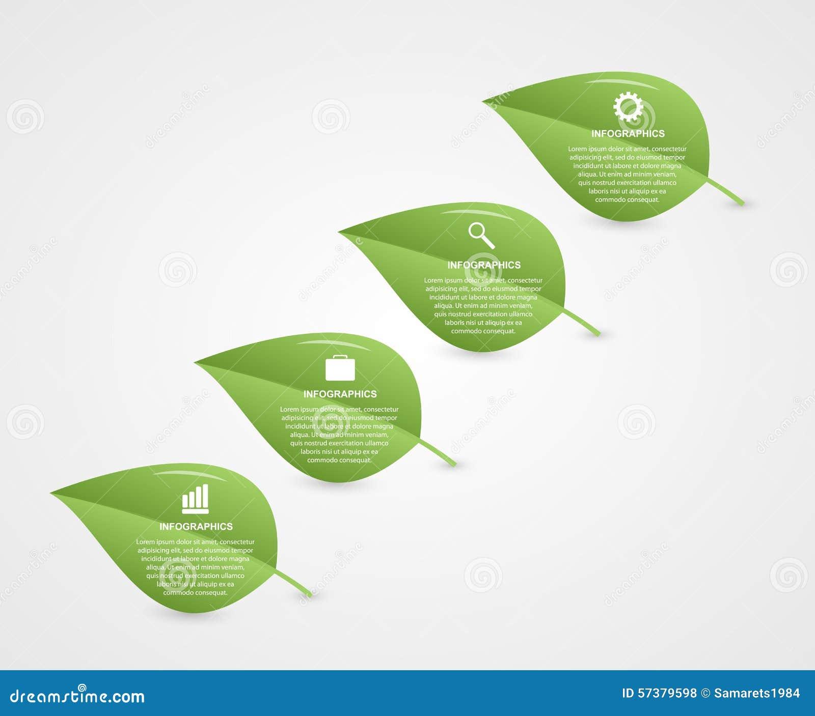 Abstract 3d infographic blad Het concept van de aard