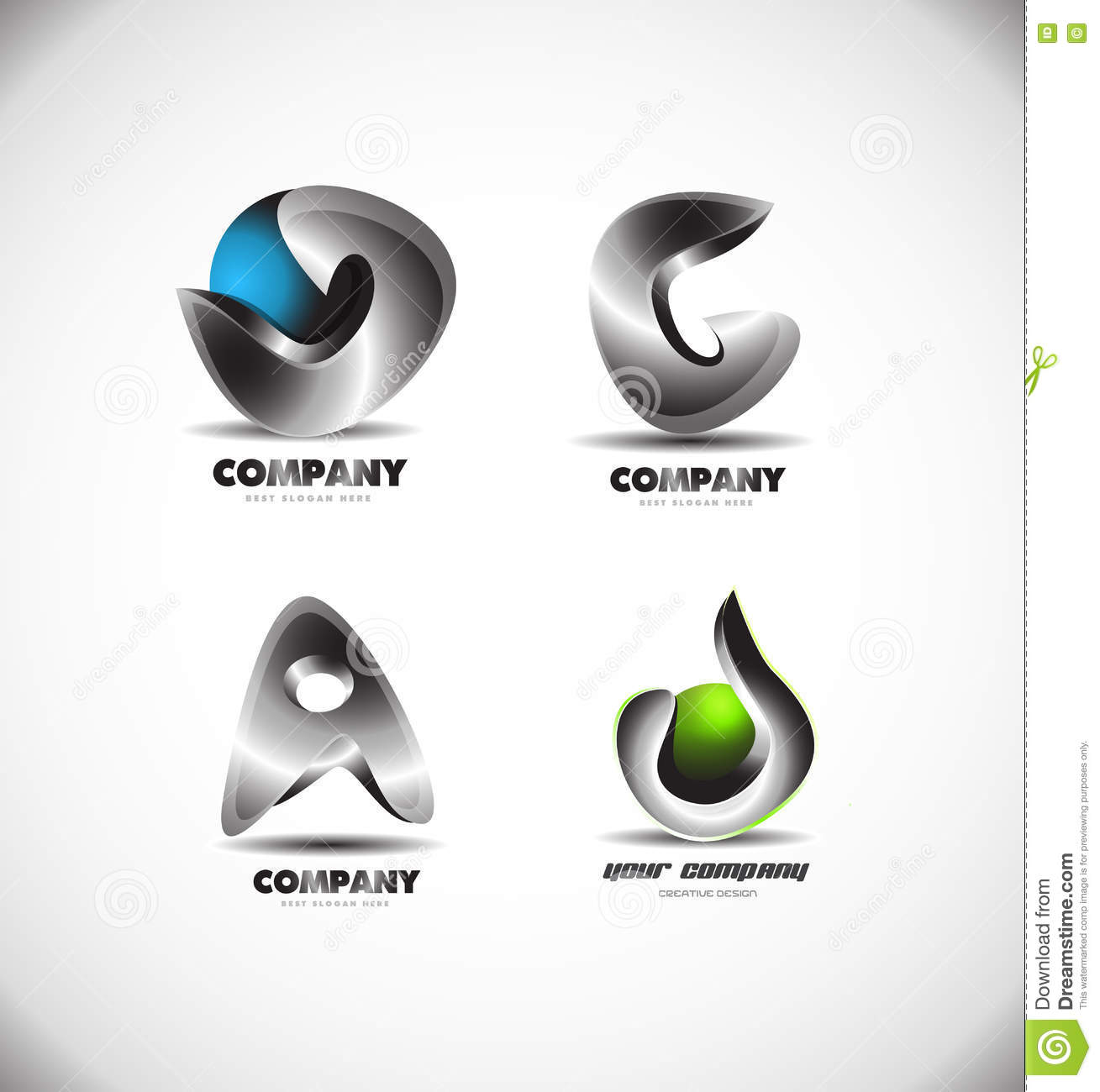 Abstract 3d Logo Design Corporate Business Stock Vector