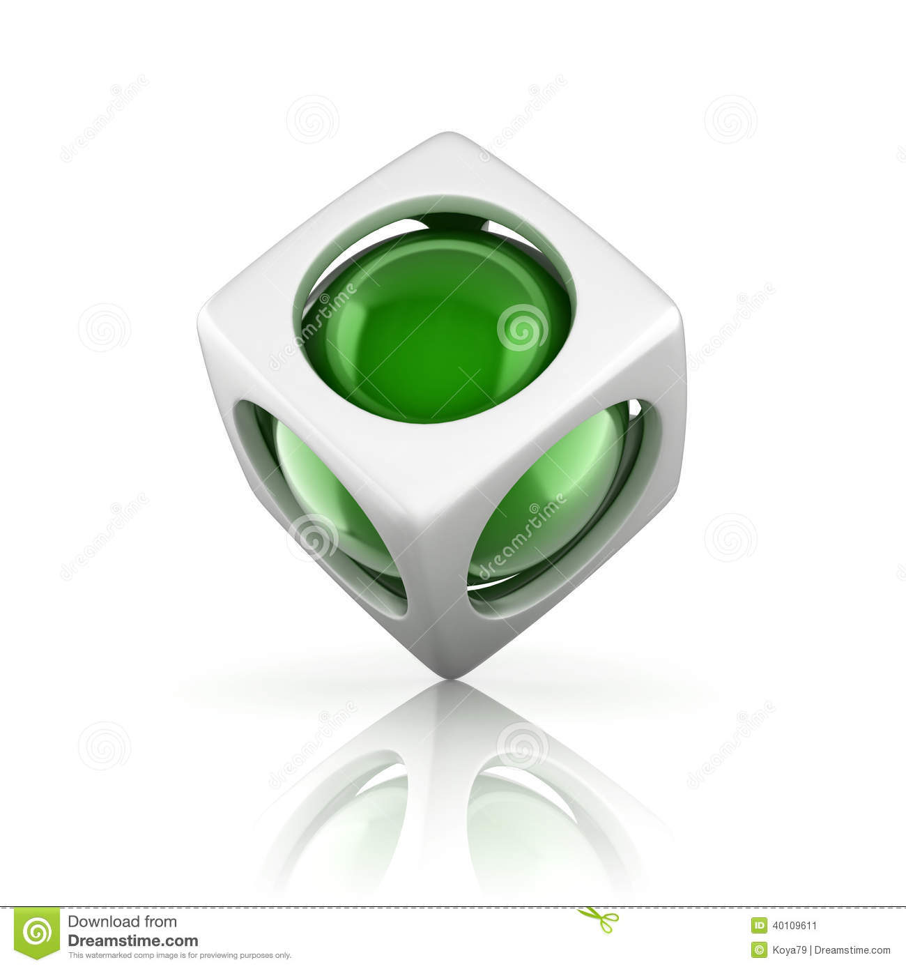 Abstract 3d Object Stock Illustration Image 40109611