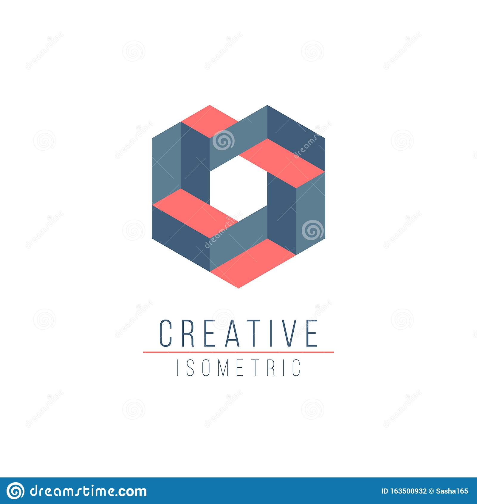 Abstract 3D Optical Illusion Logo Template For Your ...  Optical Illusion Logo