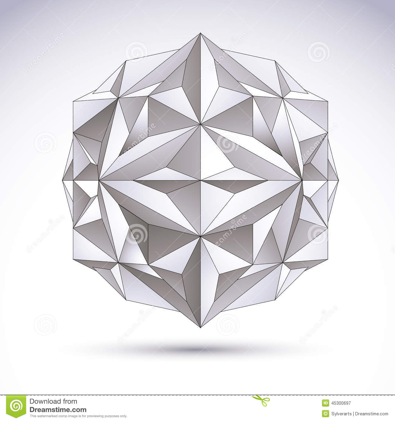 Abstract 3D Origami Polygonal Object, Vector Design Stock ... - photo#13