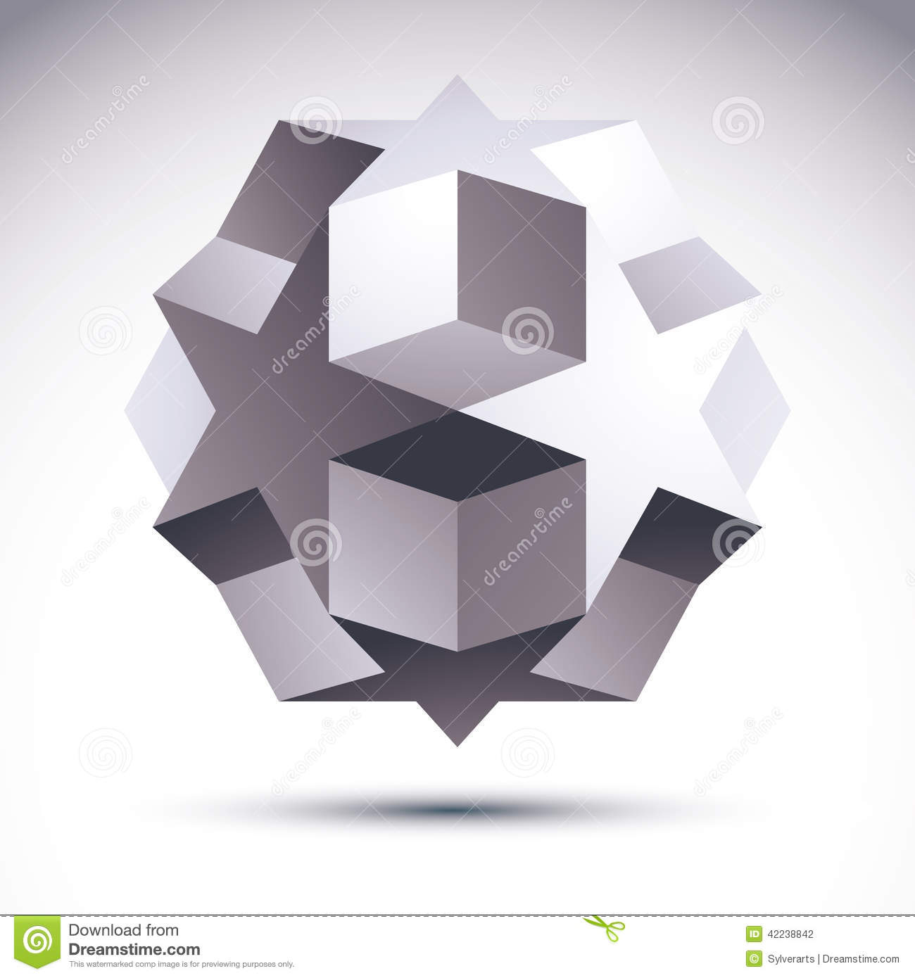 Abstract 3d origami polygonal object vector geometric design el stock vector image 42238842 - Object design eigentijds ontwerp ...