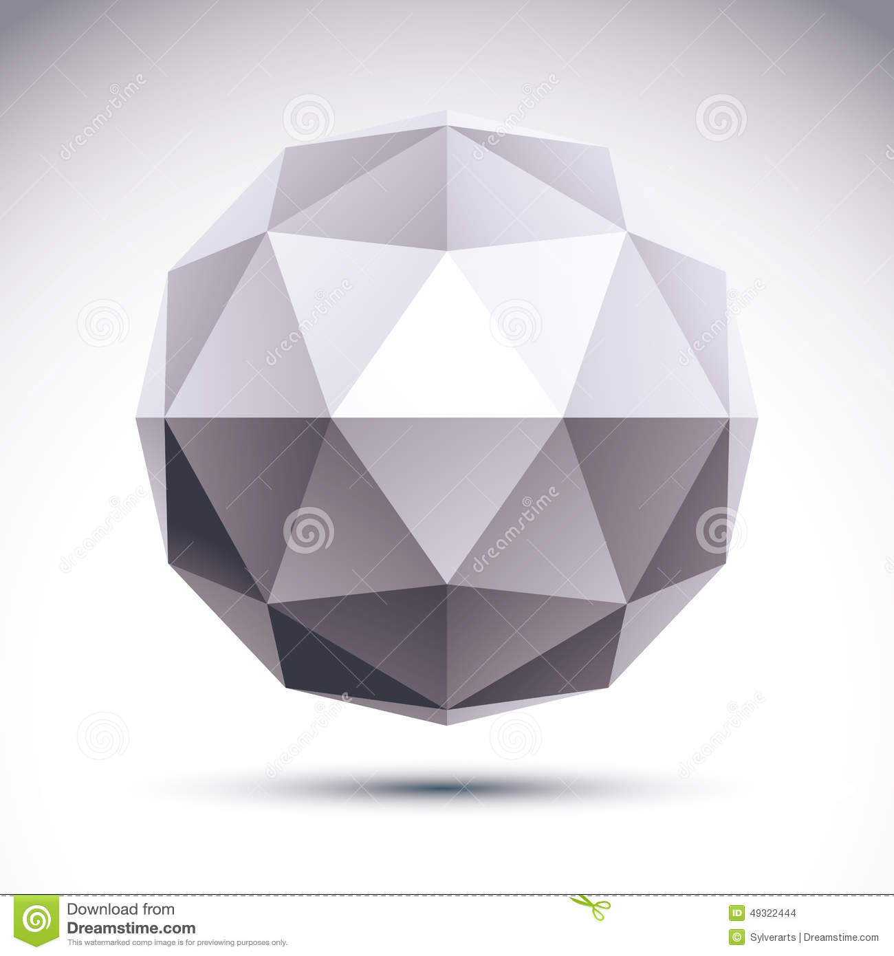 Abstract 3d Origami Polygonal Object Vector Geometric