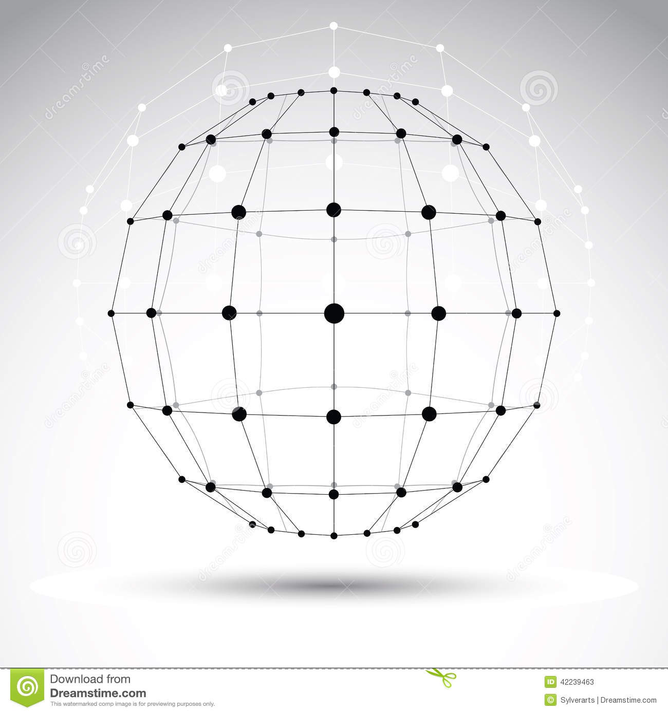 Abstract 3D Origami Polygonal Wireframe Object, Vector ... - photo#24