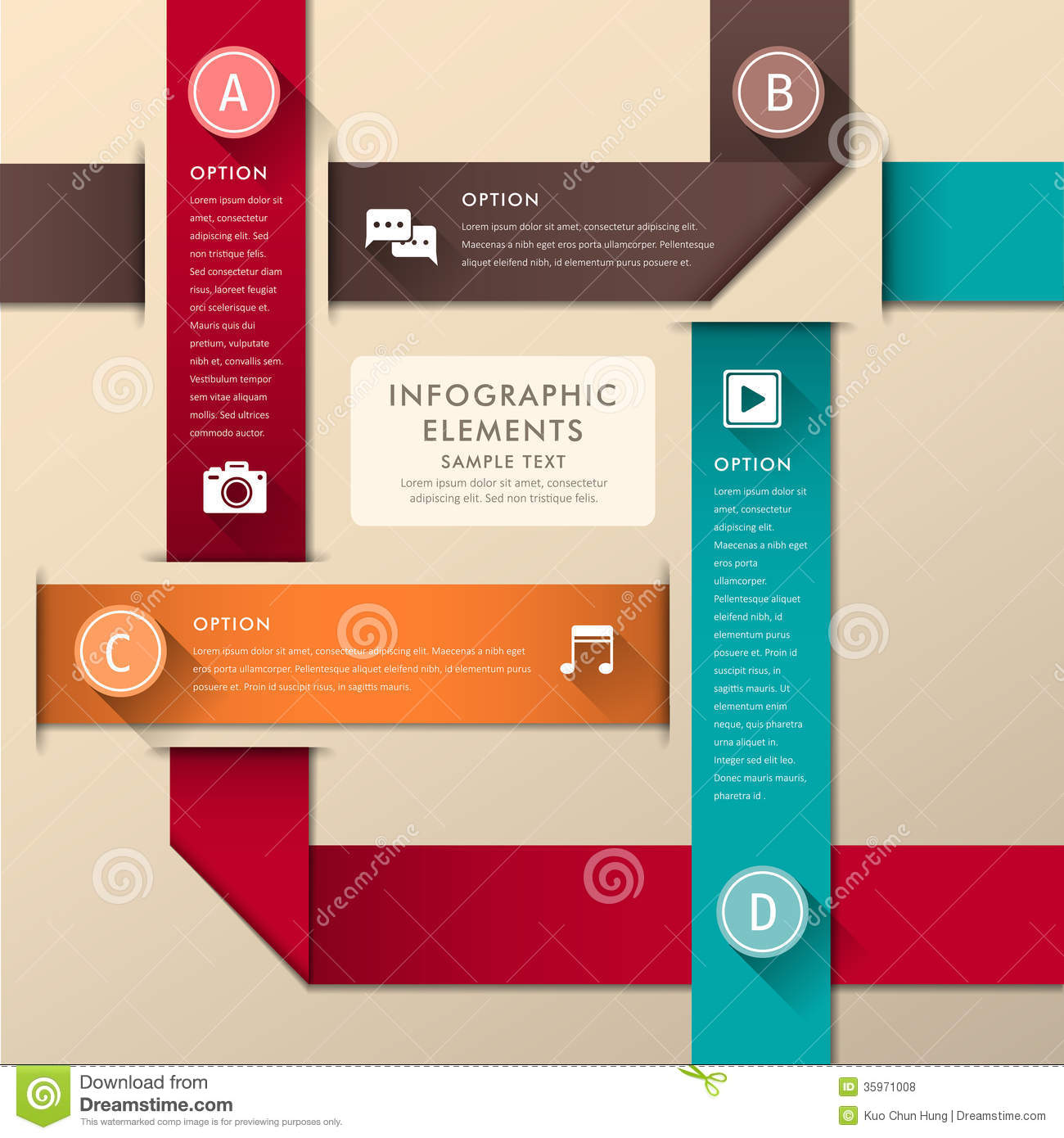 Abstract 3d paper infographics stock vector image 35971008 for 3d flat design online