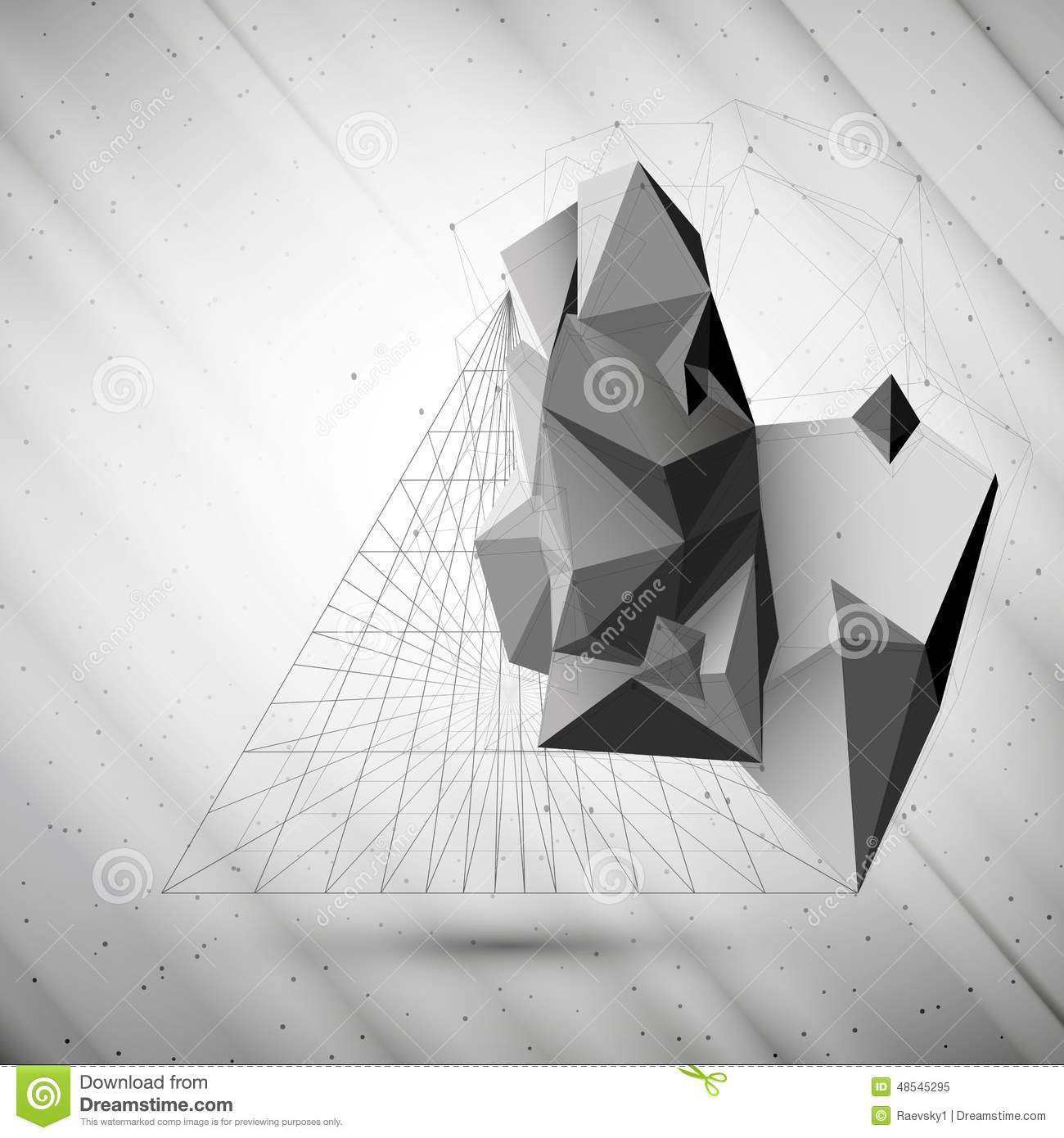 Abstract 3d Pyramid Vector Template For Business Stock Vector