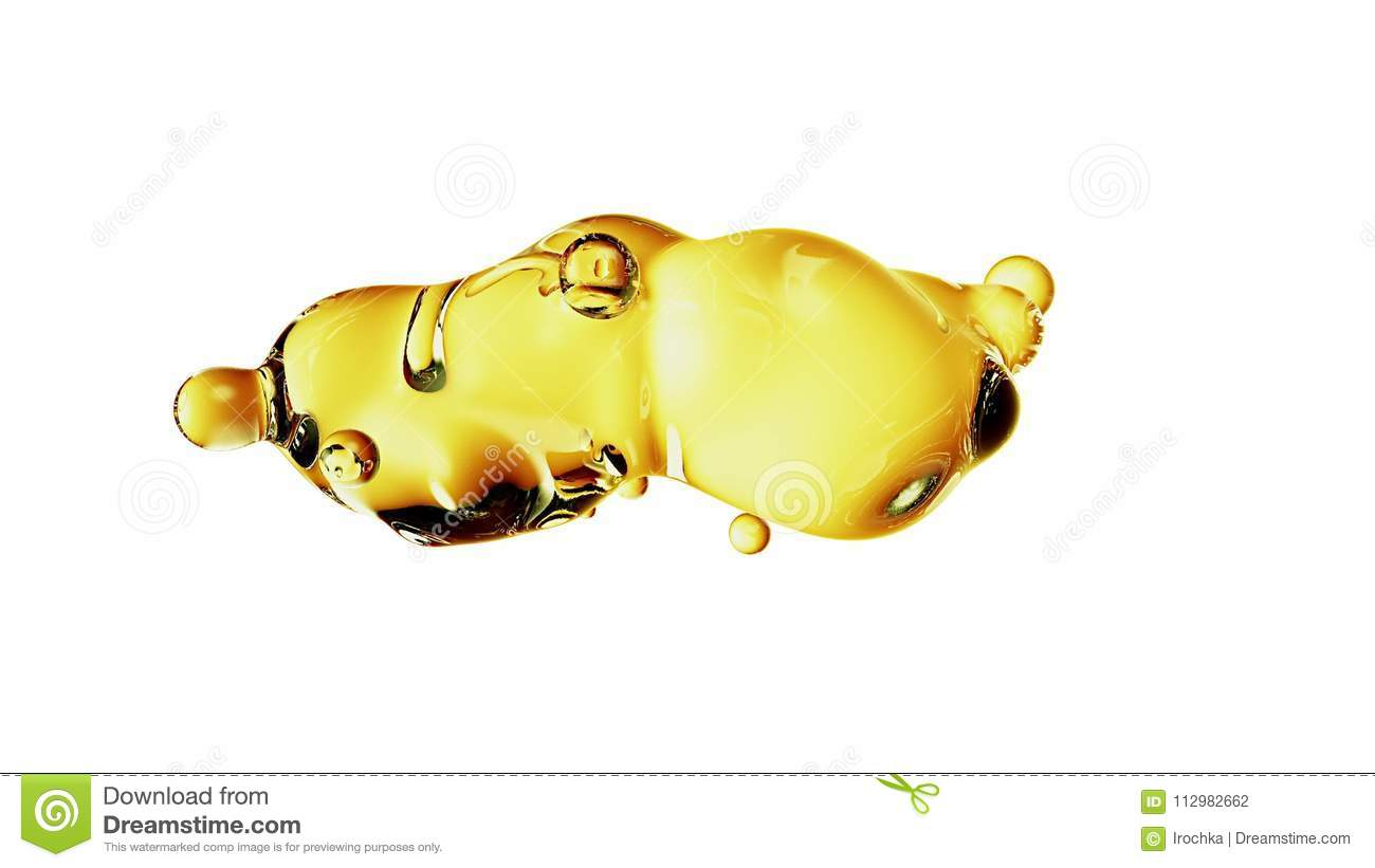 Abstract deformed figure isolated on a white background, metaball color drop