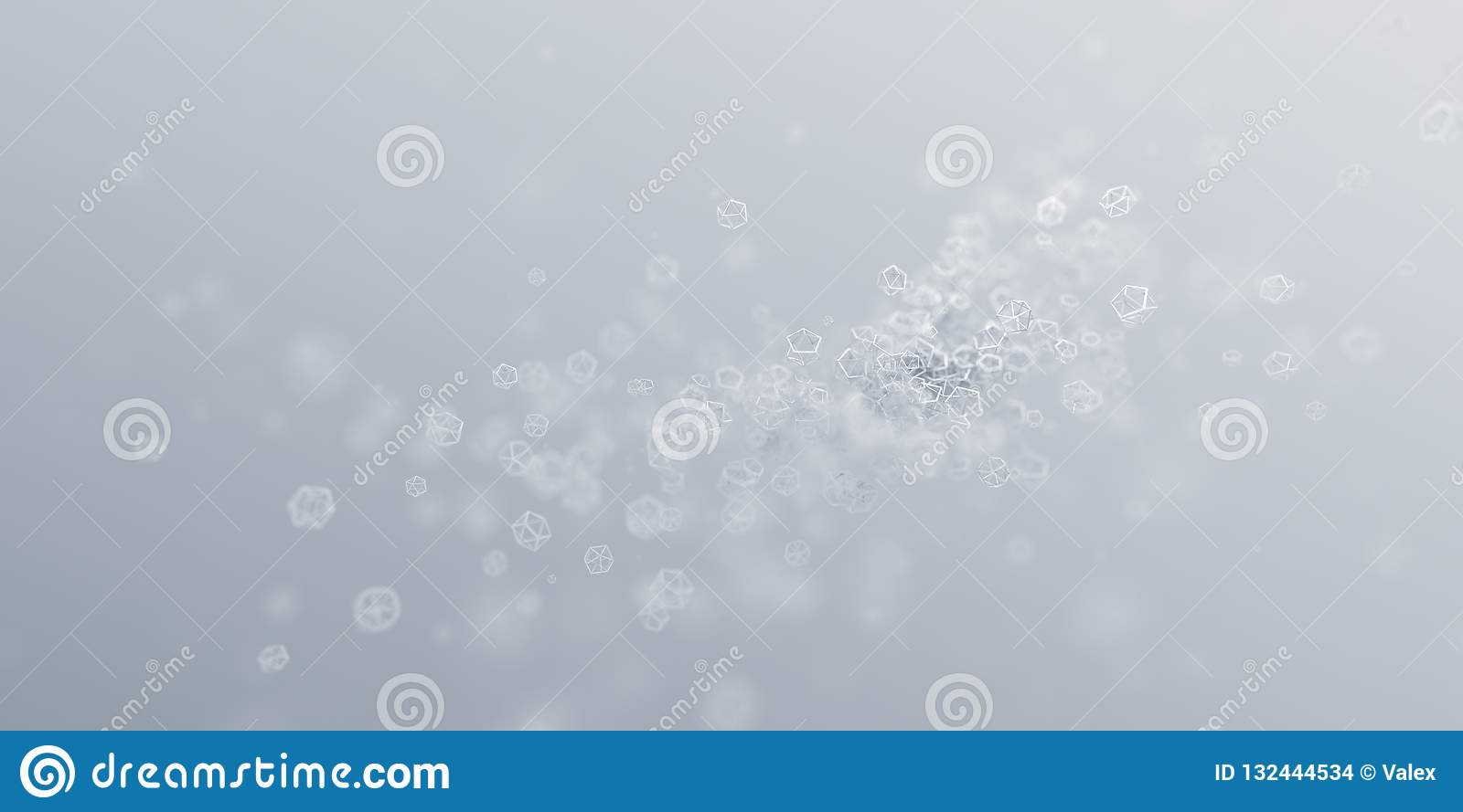 Abstract 3D Rendering of a Modern Background