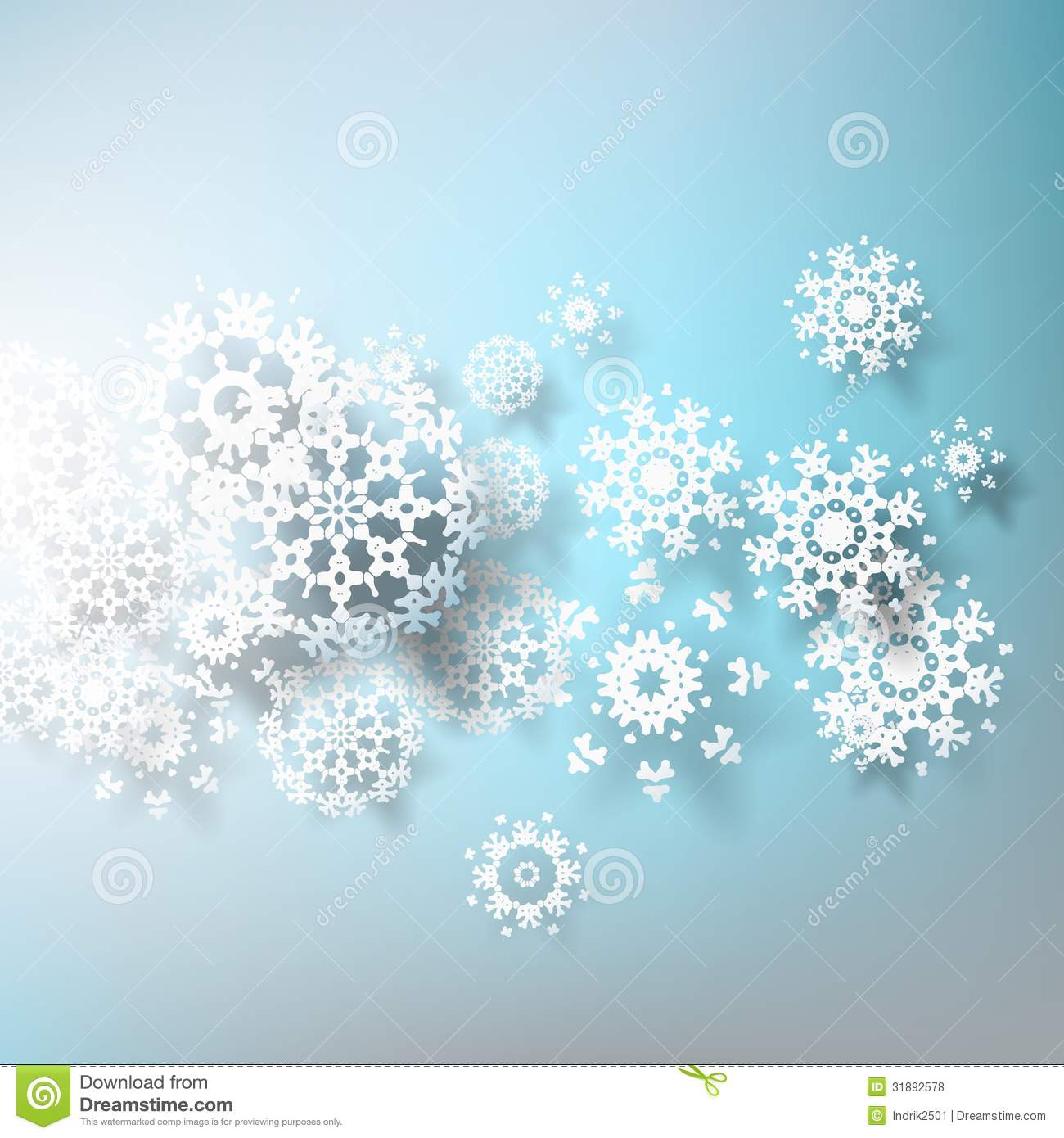 abstract 3d snowflakes design template  eps 10 royalty
