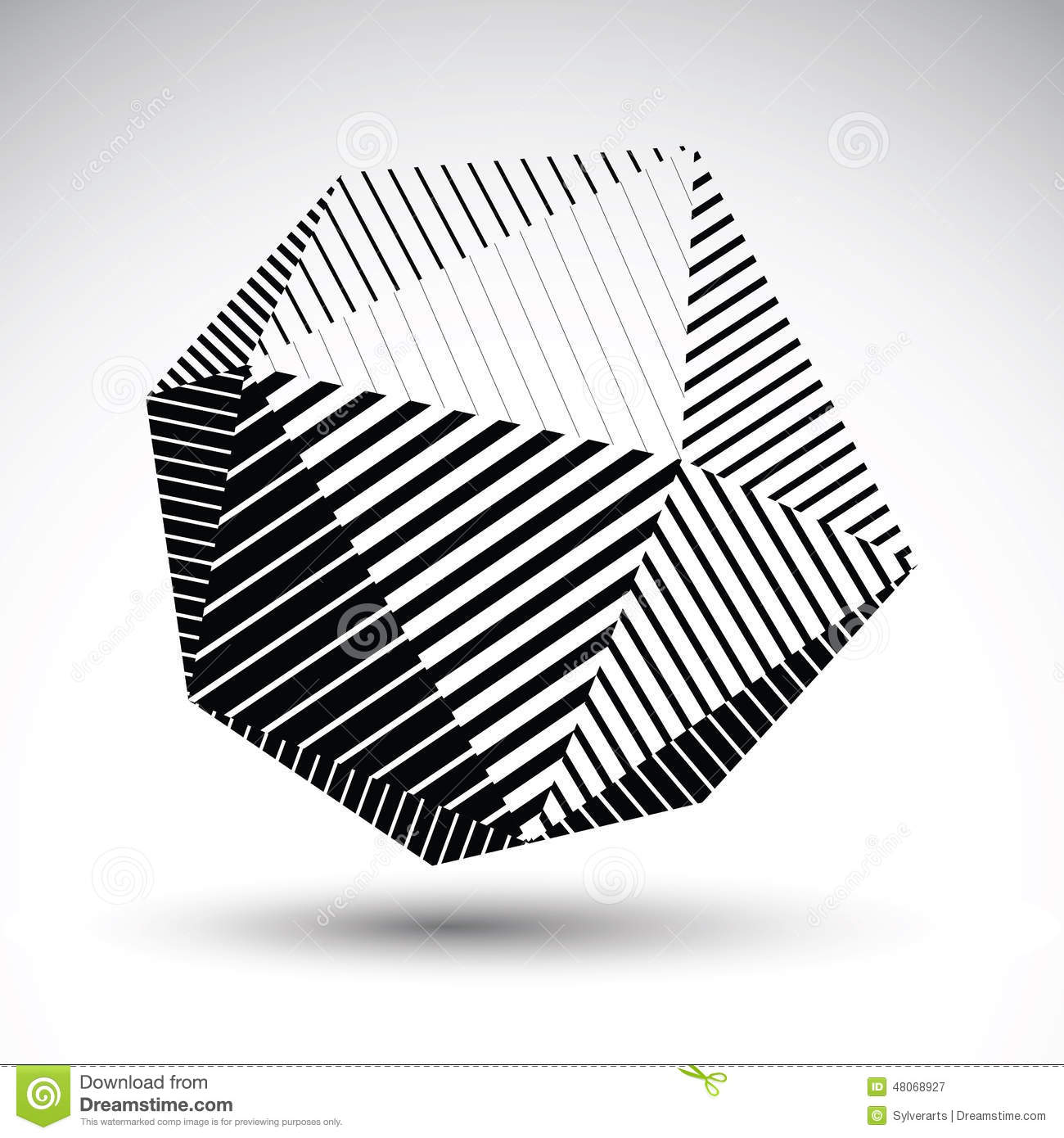 3d Shape Line Drawings : Abstract d spherical vector contrast pattern art orb
