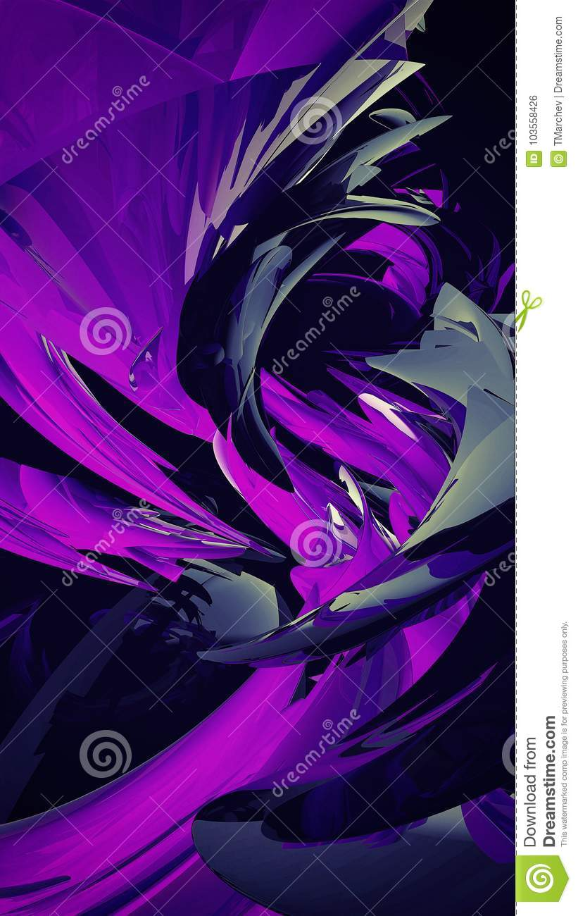 Abstract 3d waves background - 8K resolution