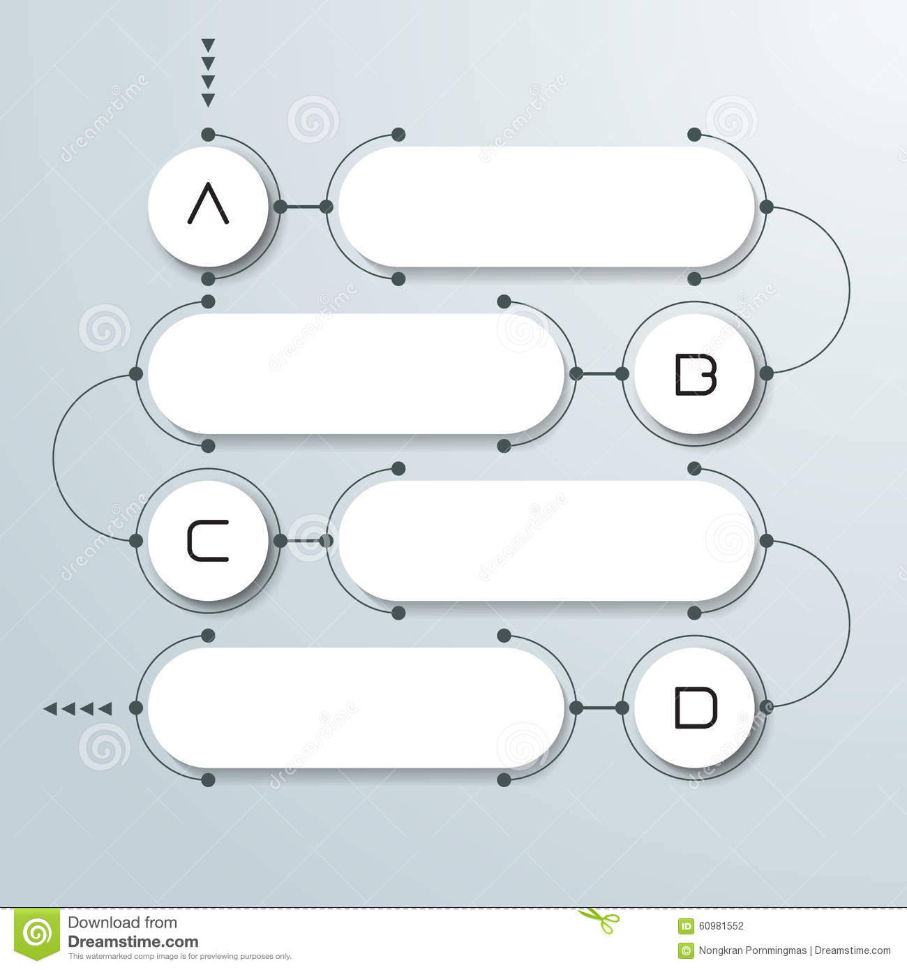 abstract 3d white paper circle on light grey background simple