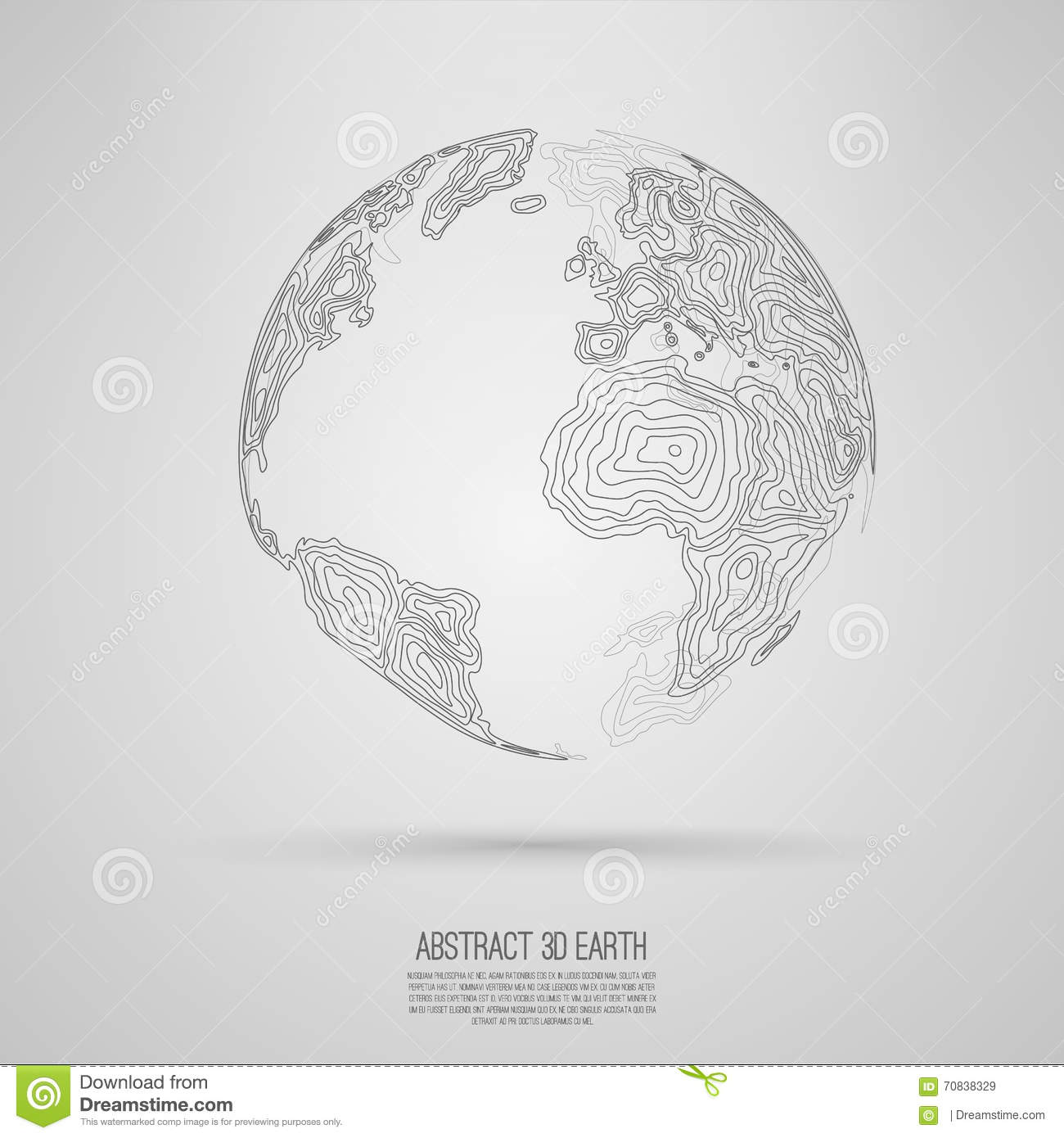 Abstract 3d world map consist of wavy lines r stock vector abstract 3d world map consist of wavy lines r royalty free vector download gumiabroncs Gallery