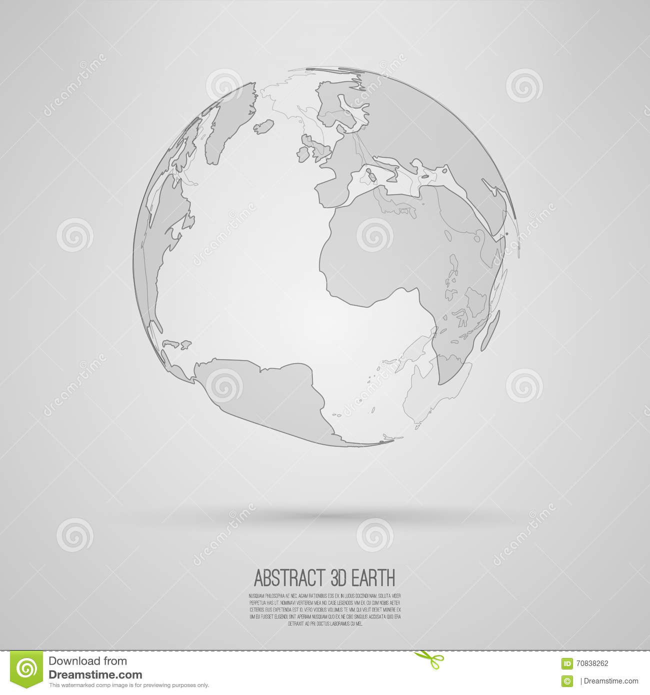 Abstract 3d world map vector earth globe illustration 70838262 abstract 3d world map vector earth globe gumiabroncs Image collections