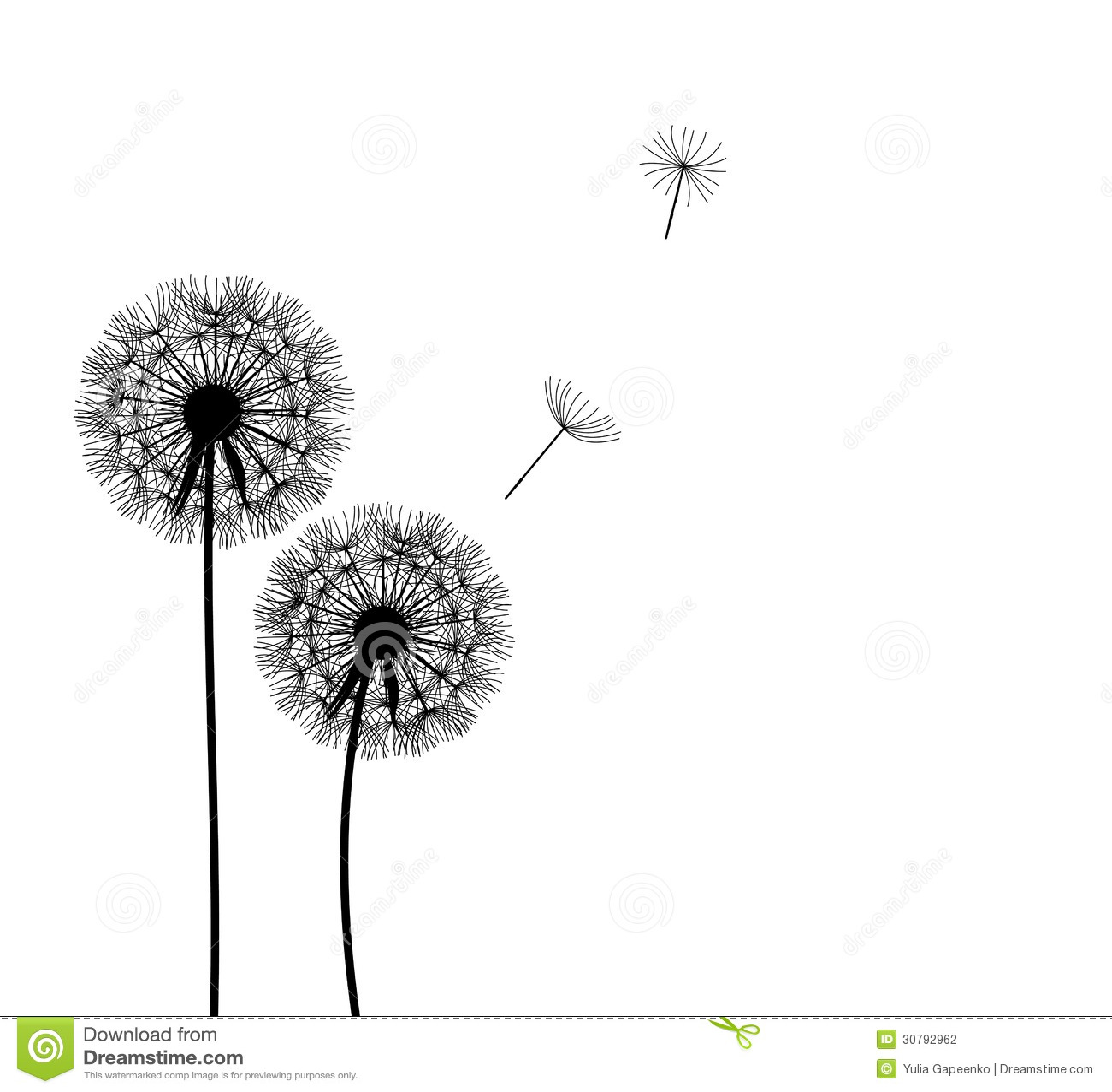 abstract dandelion background vector illustration stock