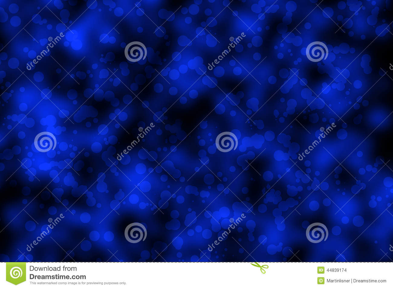 Abstract Dark Blue Background Glitter Lights Stock Photo