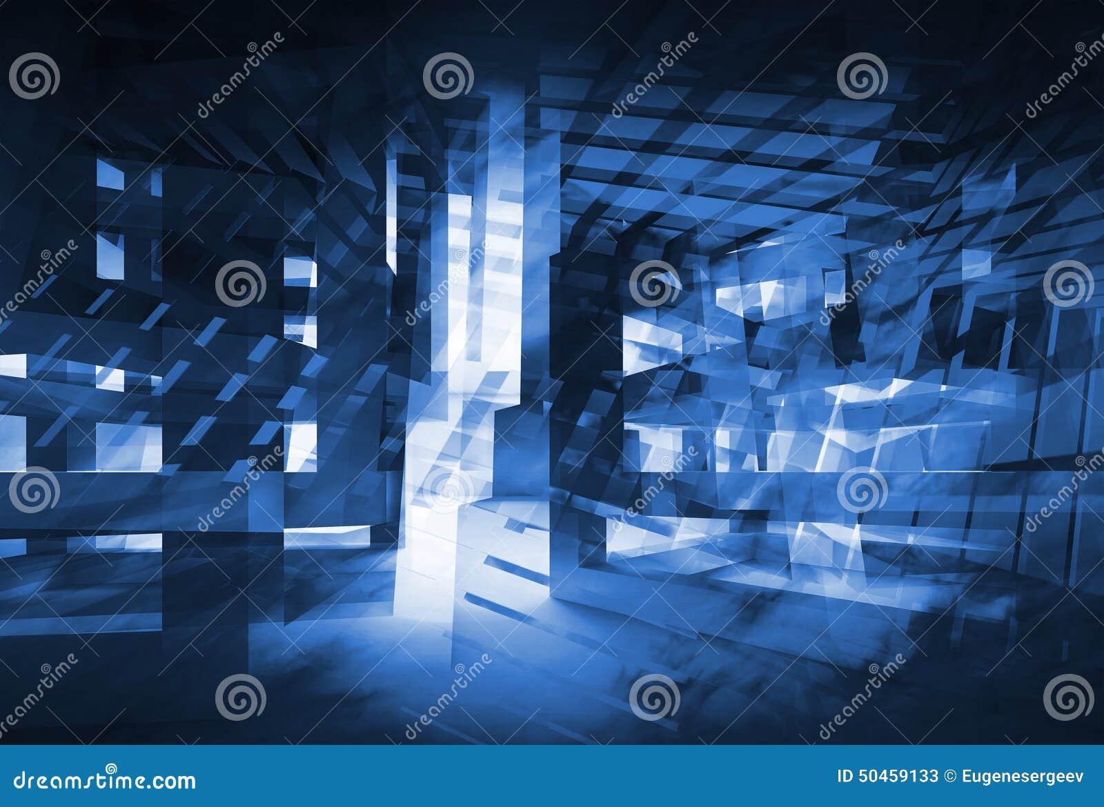 abstract dark blue 3d digital background hi tech concept stock illustration image 50459133. Black Bedroom Furniture Sets. Home Design Ideas