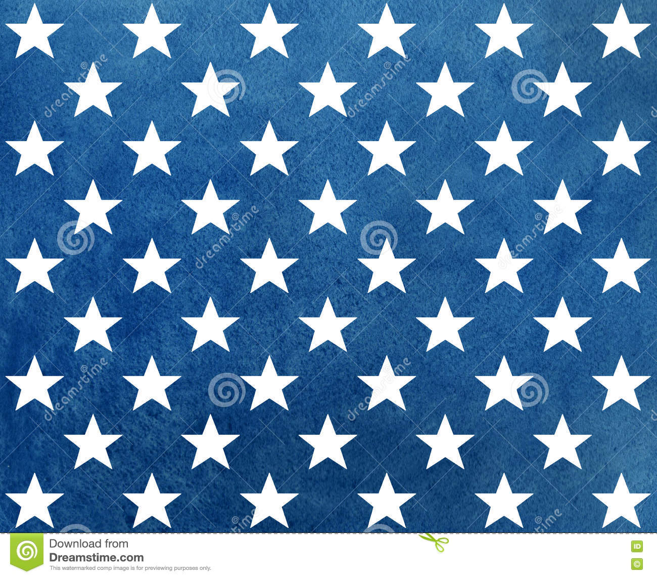 Abstract dark blue watercolor pattern with white stars.