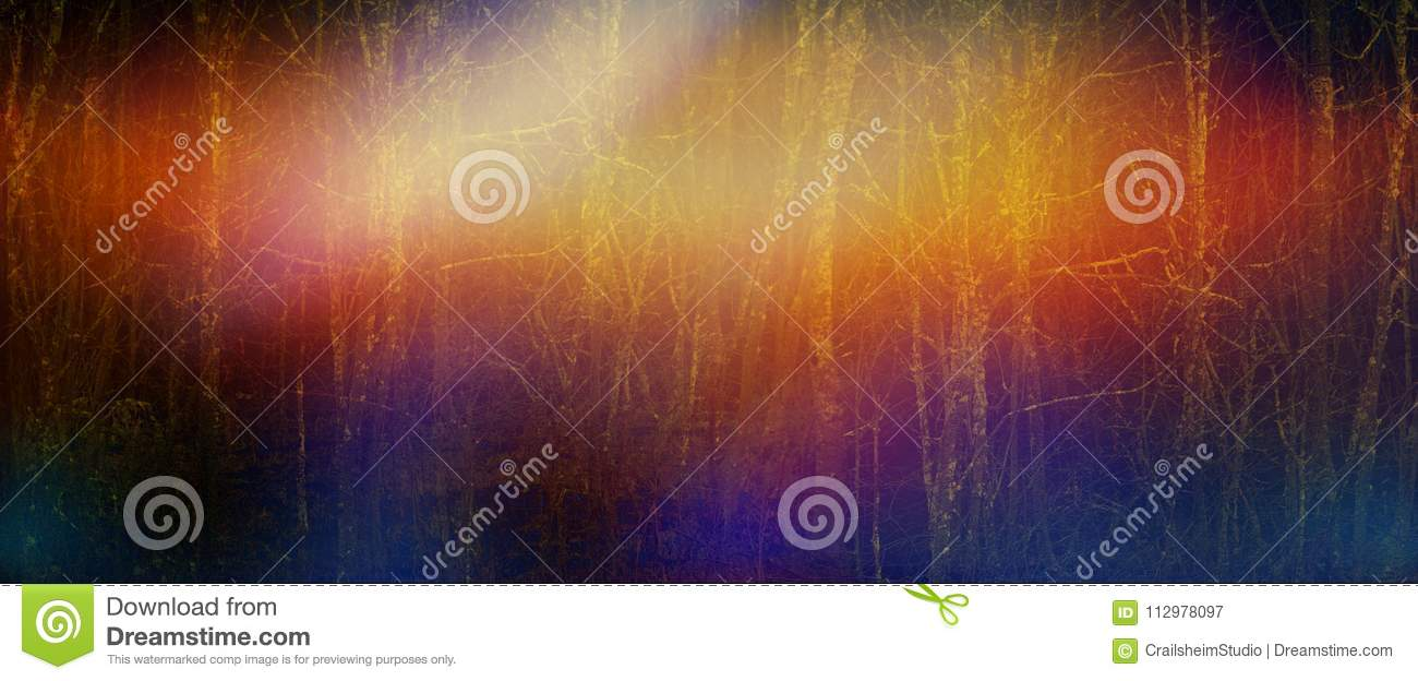Abstract dark creative tree trunks forest