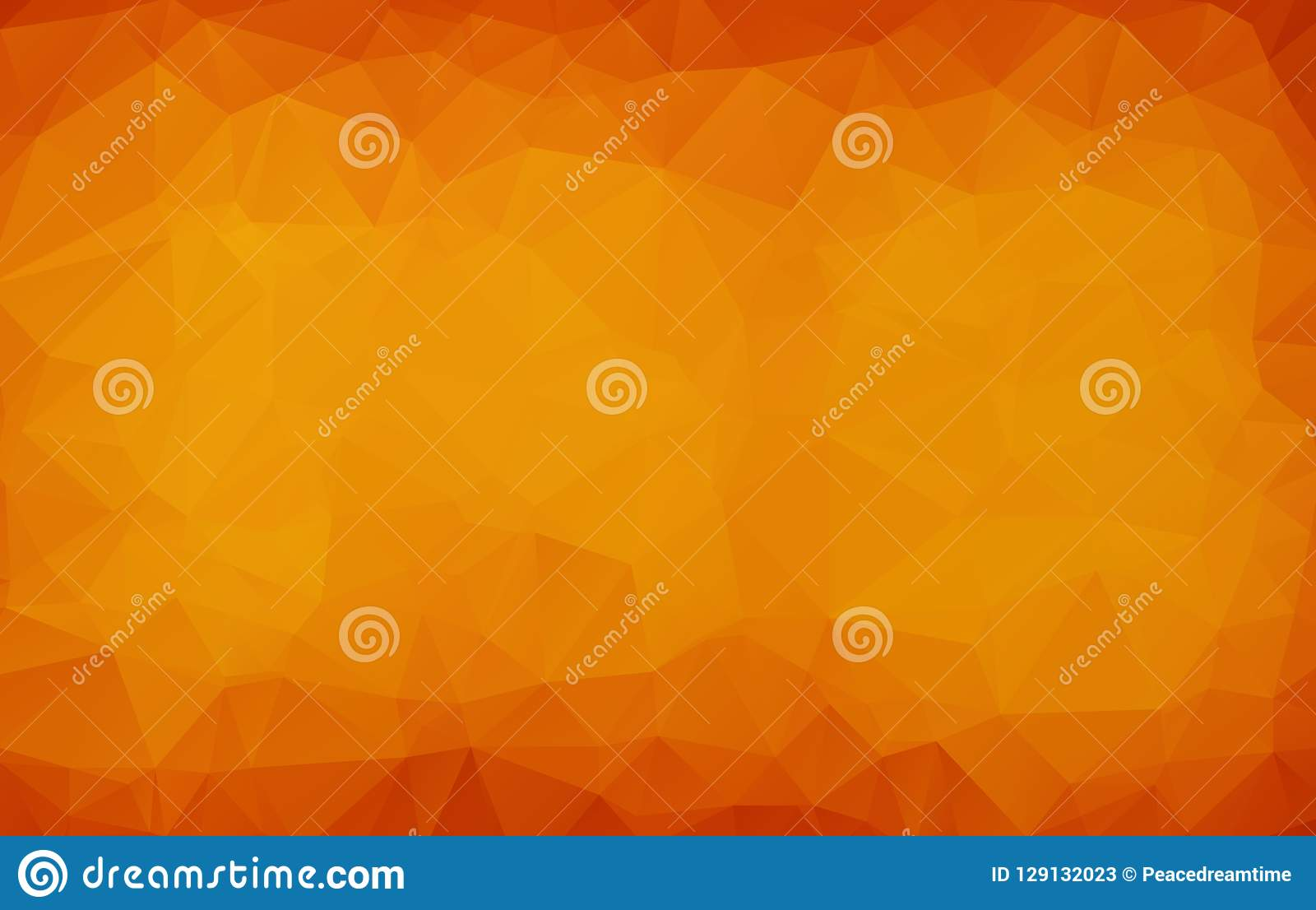 Abstract Dark orange polygonal illustration, which consist of triangles. Geometric background in Origami style with gradient. Tria