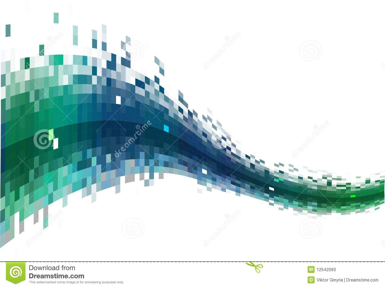 Abstract Data Stream Stock Illustration Image Of