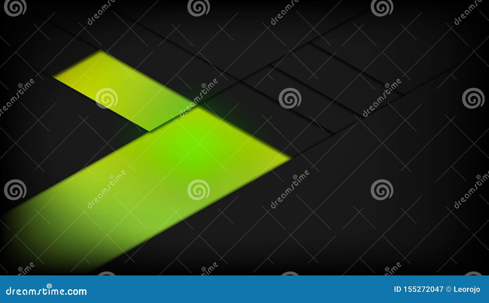 Abstract de geschiktheids vectorontwerp van de achtergrond groen zwart machtsgymnastiek