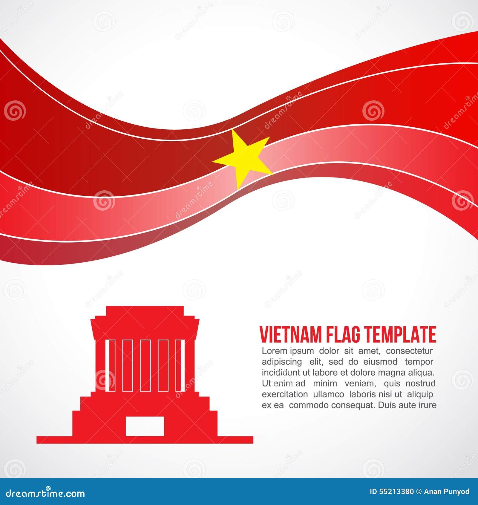 Abstract de vlaggolf en Ho Chi Minh van Vietnam - Mausoleum Hanoi