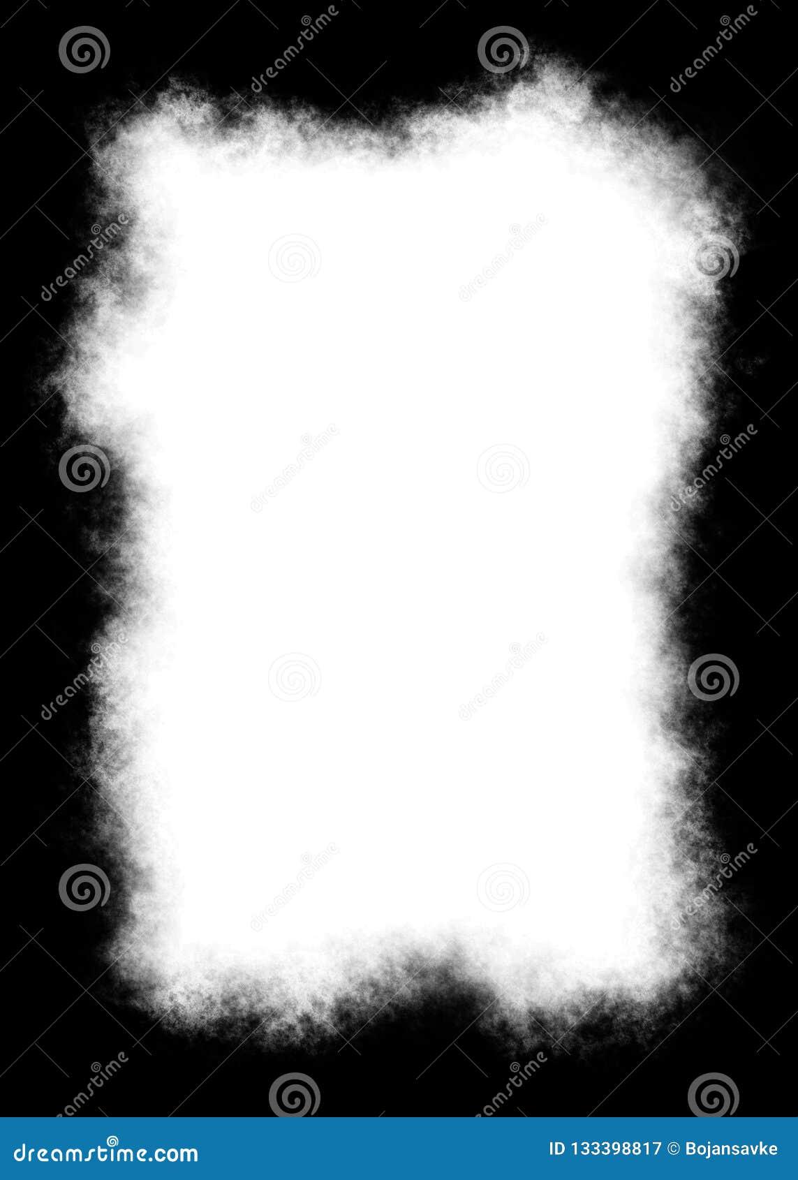 Abstract Decorative Black Photo Edge/Overlay for Portrait Photos