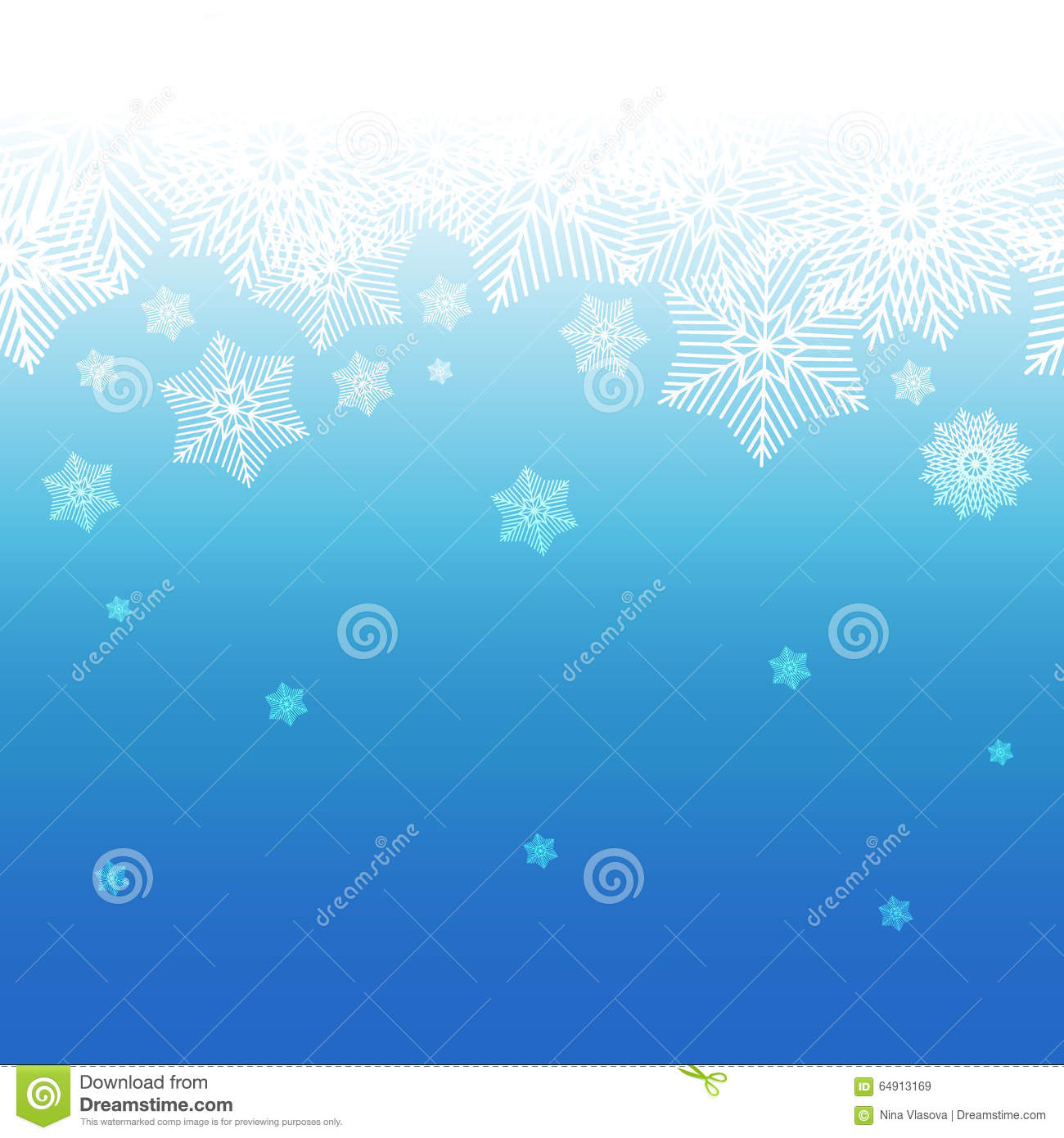 abstract decorative blue and white christmas background with