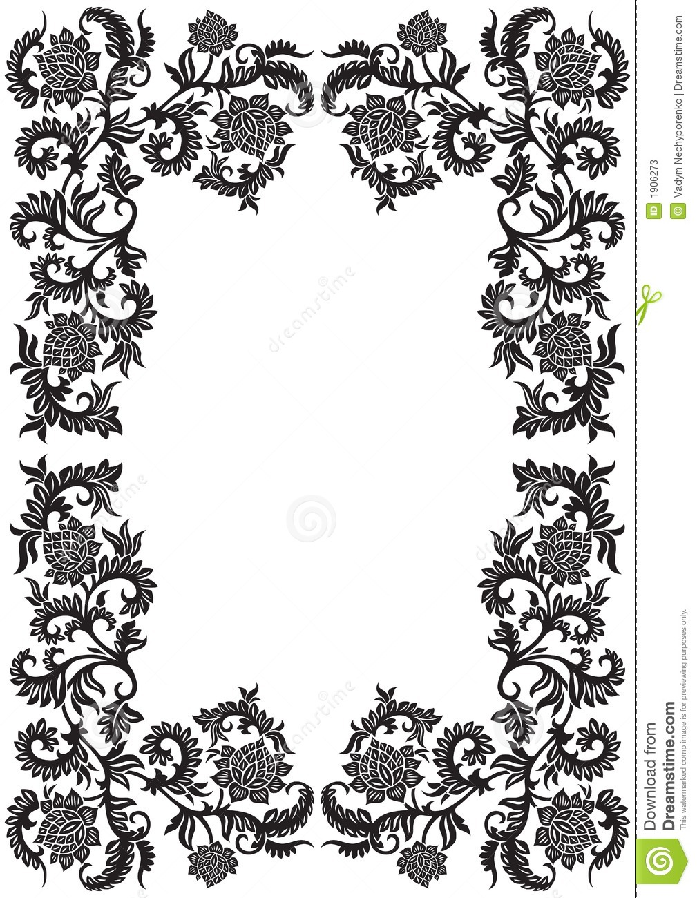 Abstract Decorative Ornamental Frame With Flower Vector