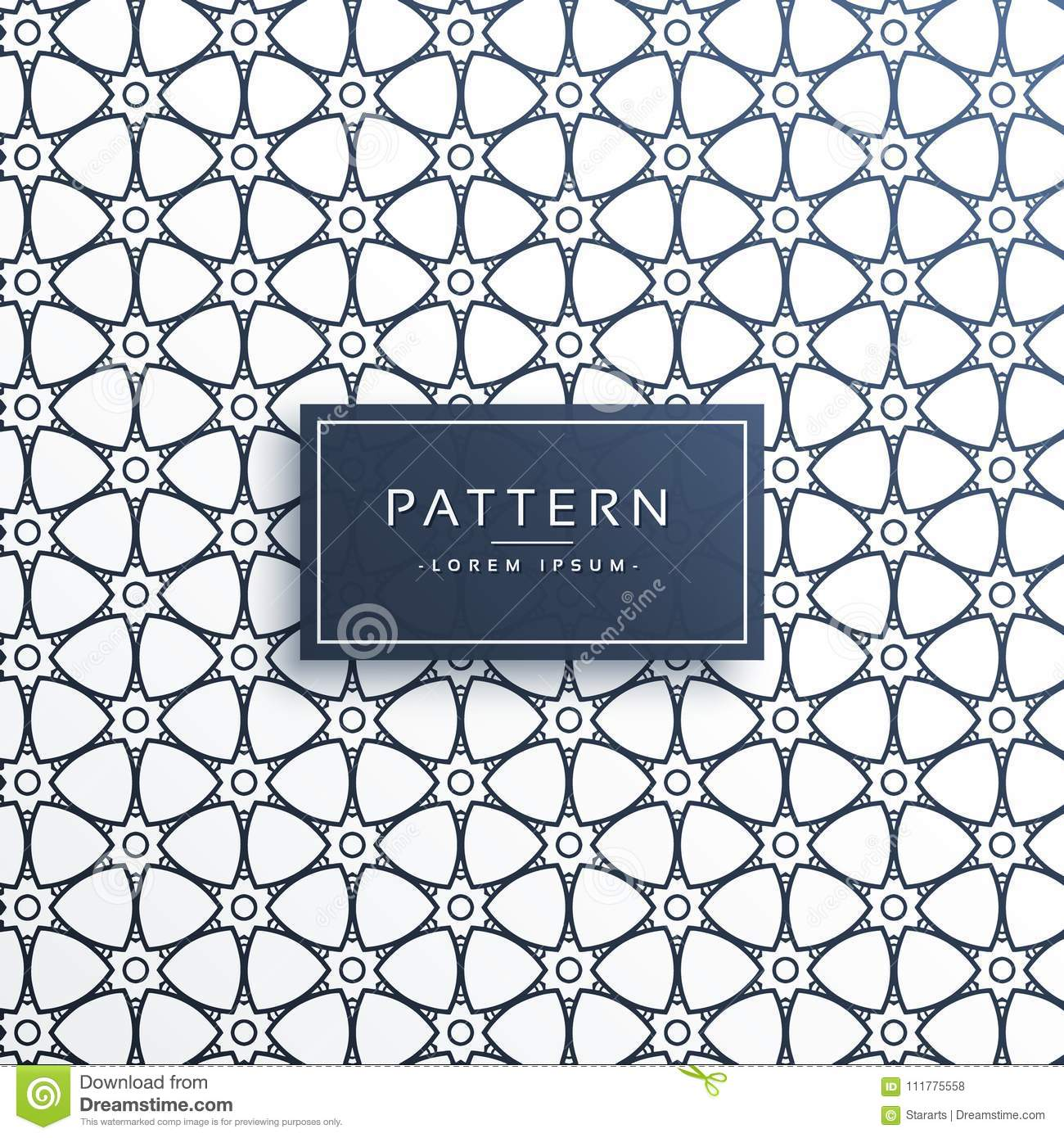 Abstract decorative pattern design background