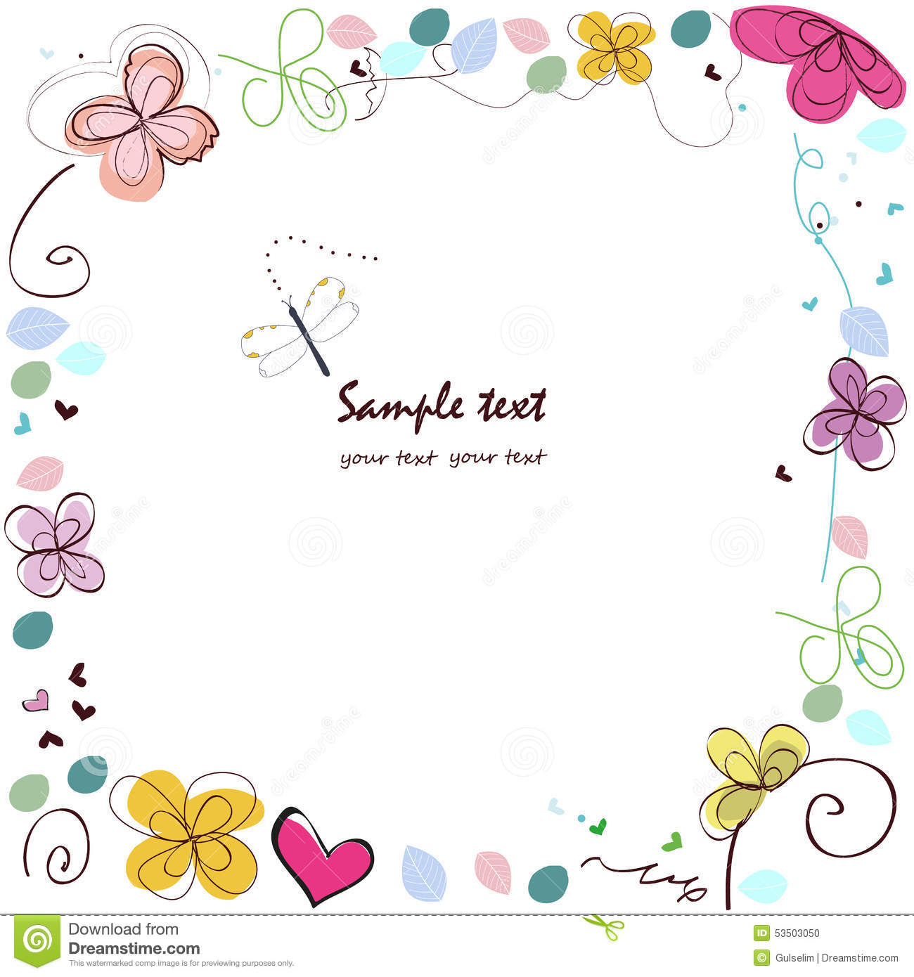 Abstract Decorative Summer Greeting Card ...