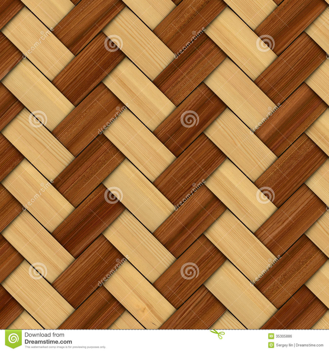 Abstract decorative wooden textured basket weaving