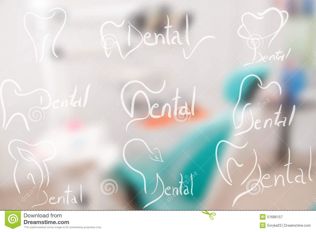 abstract dental illustration of a teeth stock illustration
