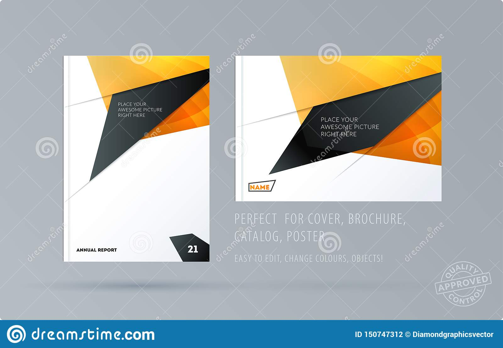 Abstract design brochure cover, creative flyer in A4 with colourful shapes for branding, marketing kit