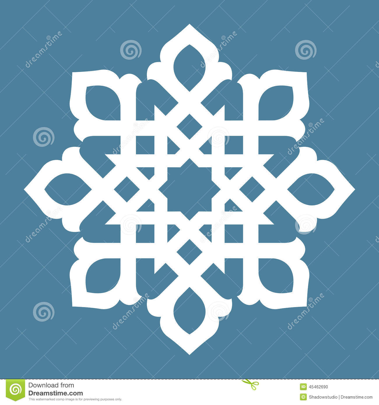 ... design of Persian- Islamic-Turkish-Arabic circle floral ornamental