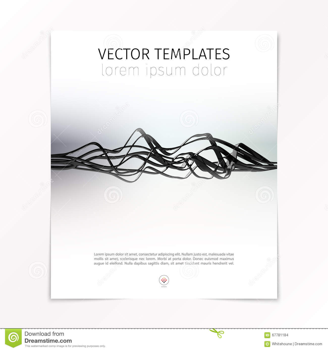 abstract design cover page template stock vector image  abstract design cover page template