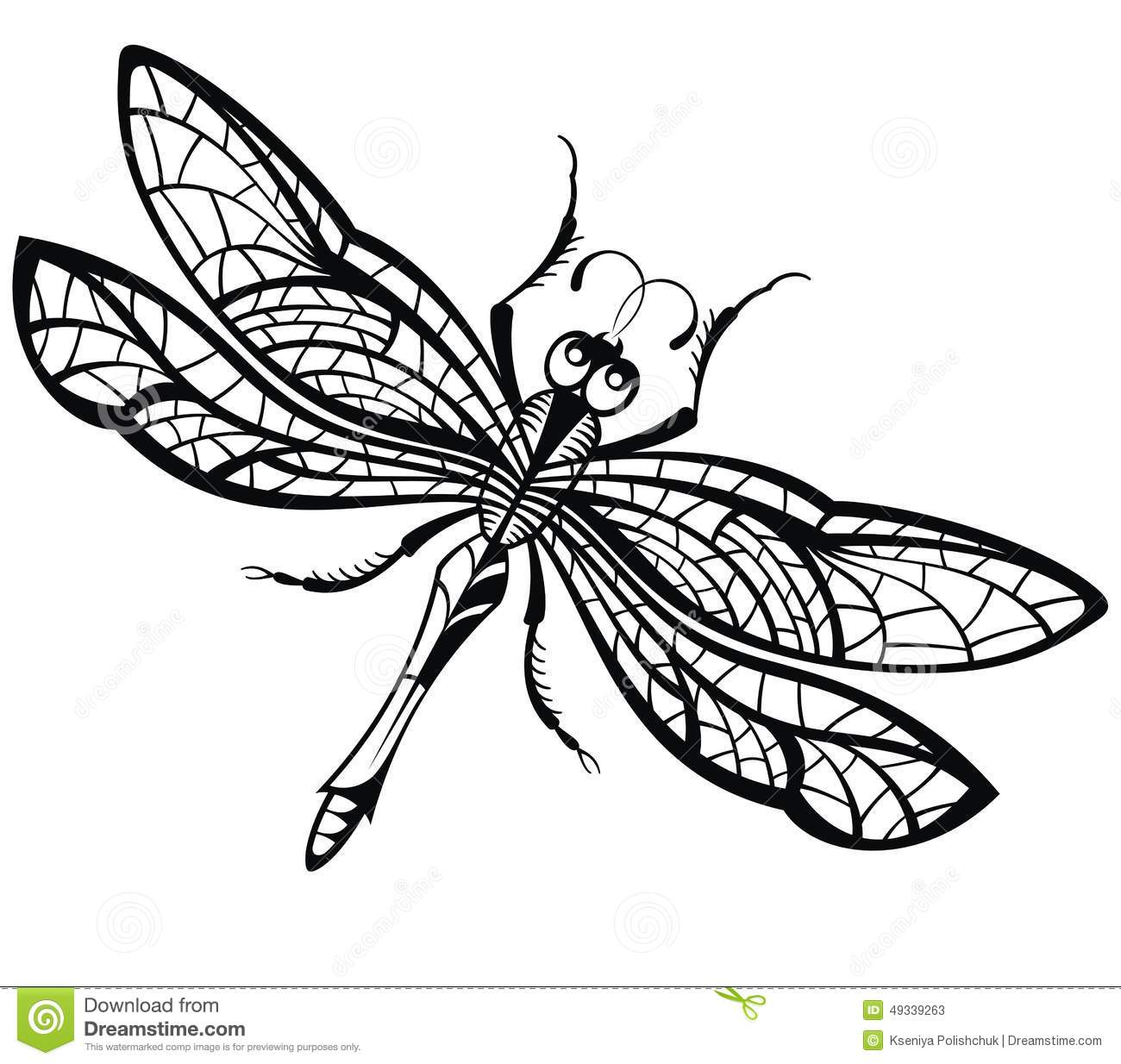 abstract design of dragonfly stock vector illustration
