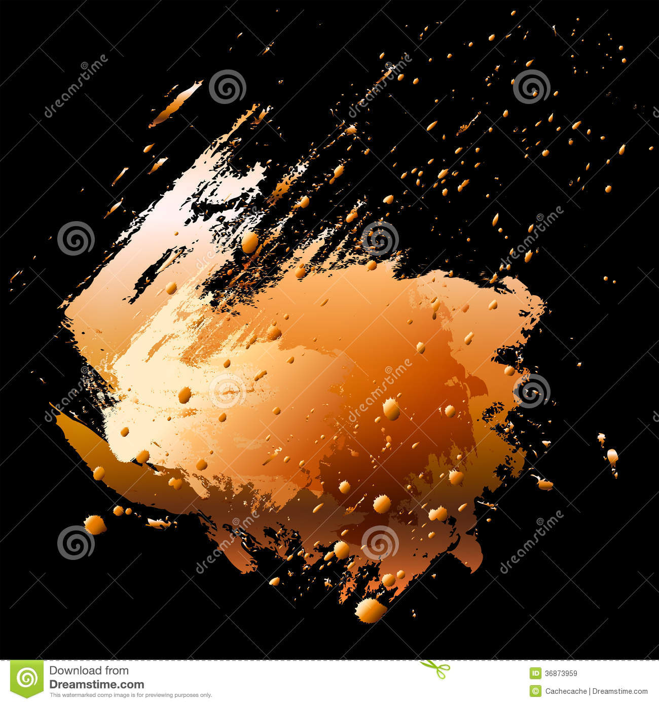 Abstract Design Element. Brush Stroke And Paint Sp Royalty Free Stock ...