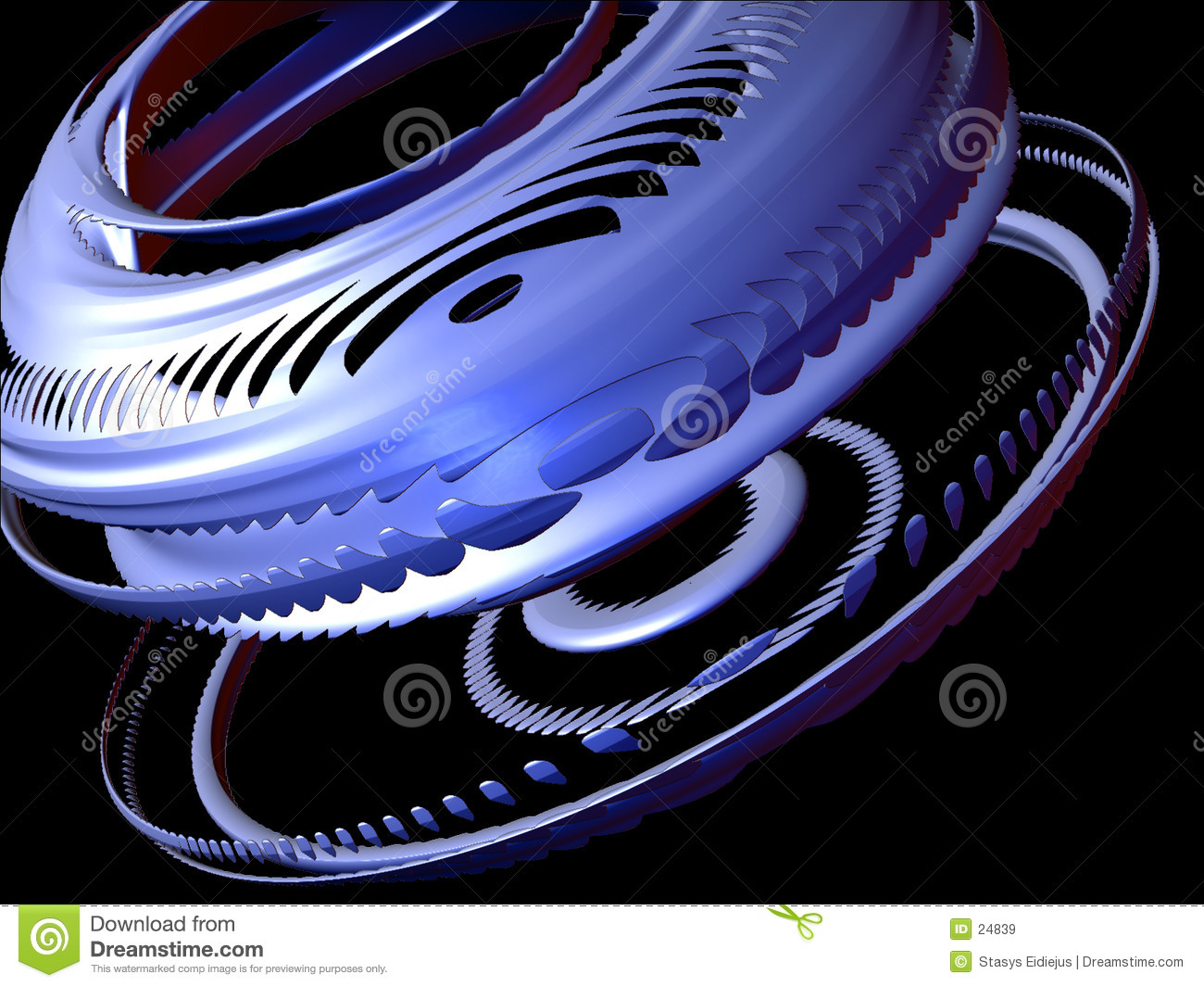 Abstract design elements 3D, Set I, detail 3