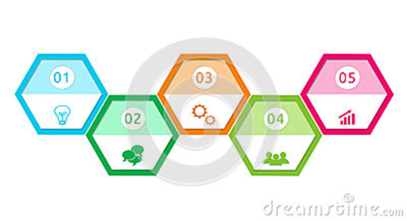 Abstract design with hexagons