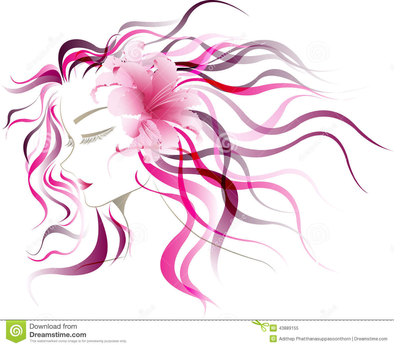 flower girl vector abstract - photo #39