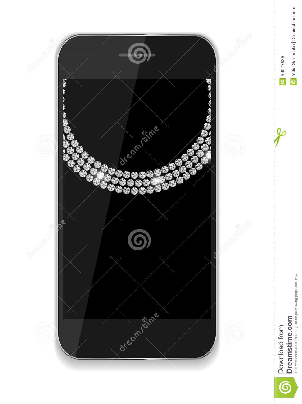 Abstract Design Mobile Phones . Vector