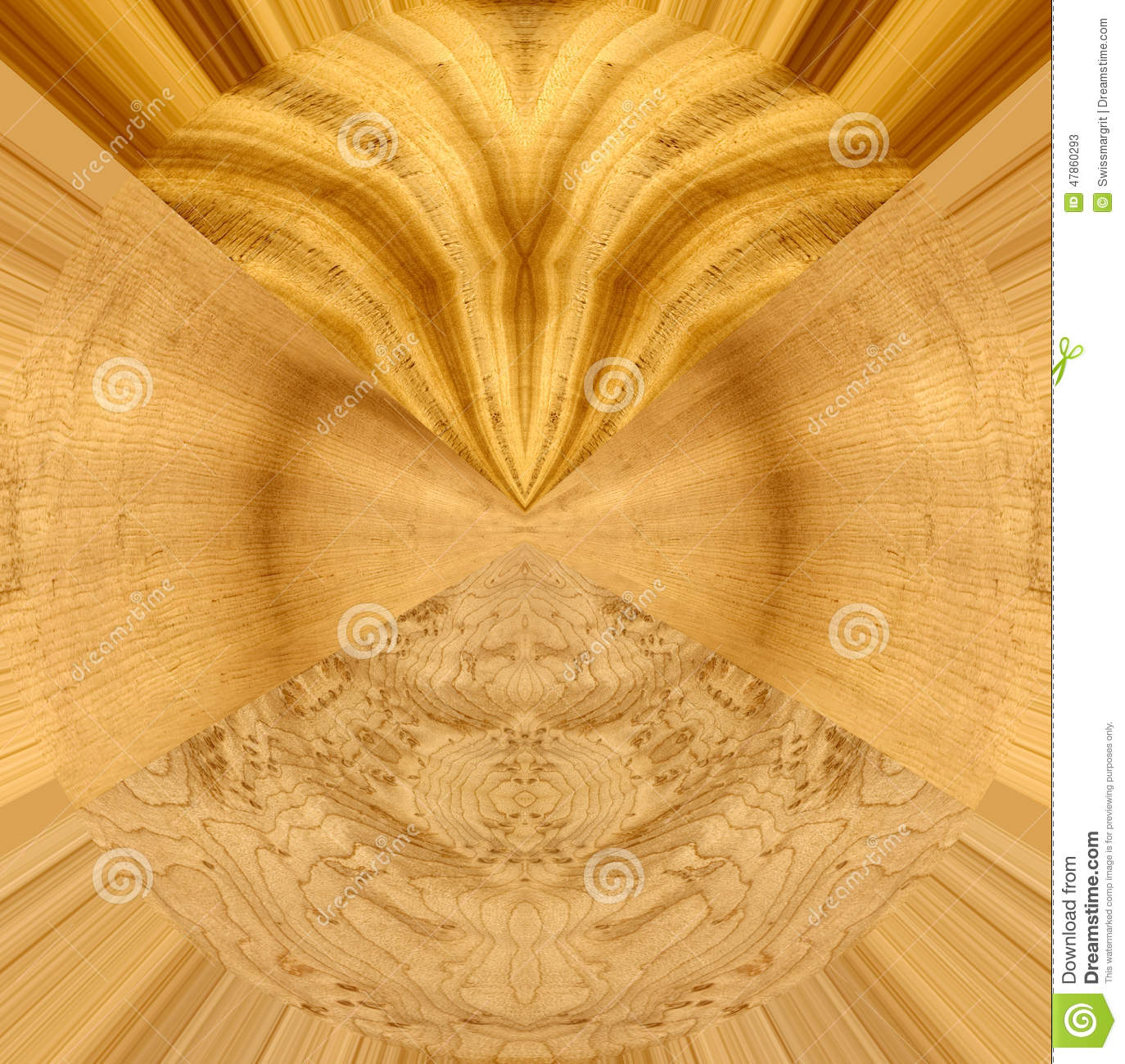Birds Eye Maple Wood ~ Abstract design with satinwood spruce and birds eye maple