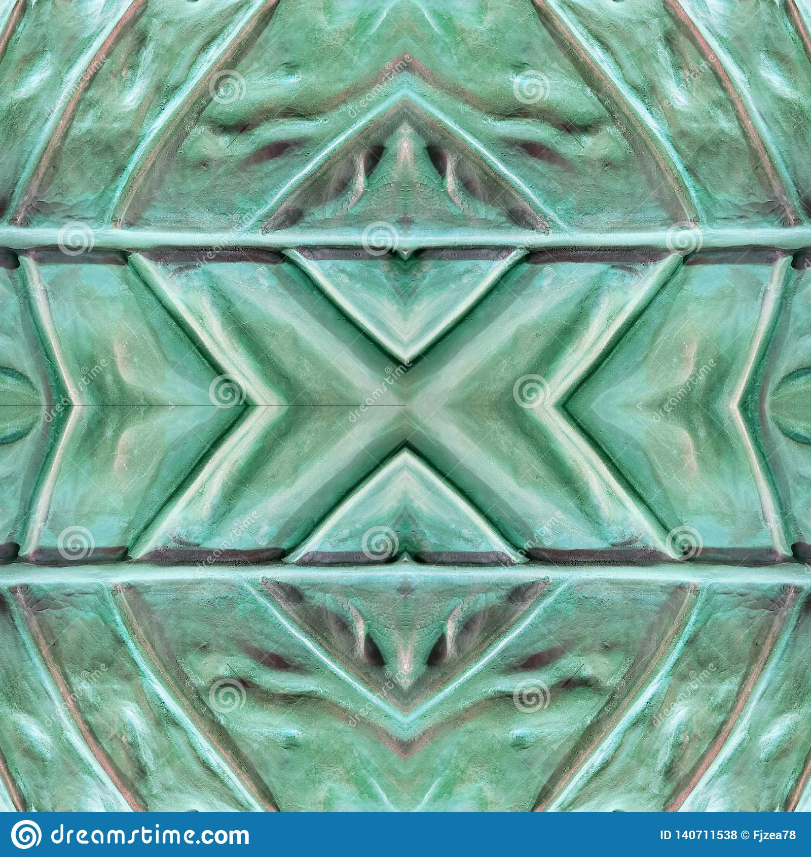 abstract design with stone and sand material in aquamarine and gray colors, background and texture