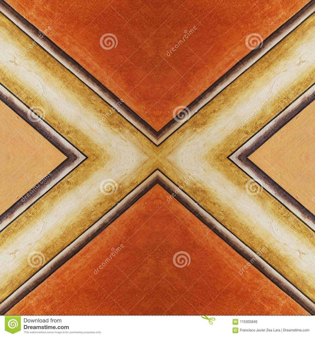 Abstract Design For Walls And Floors With Old-style, In