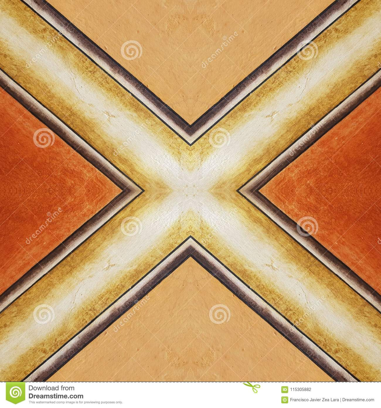 Abstract Design For Walls And Floors With Old-style, In Orange And ...