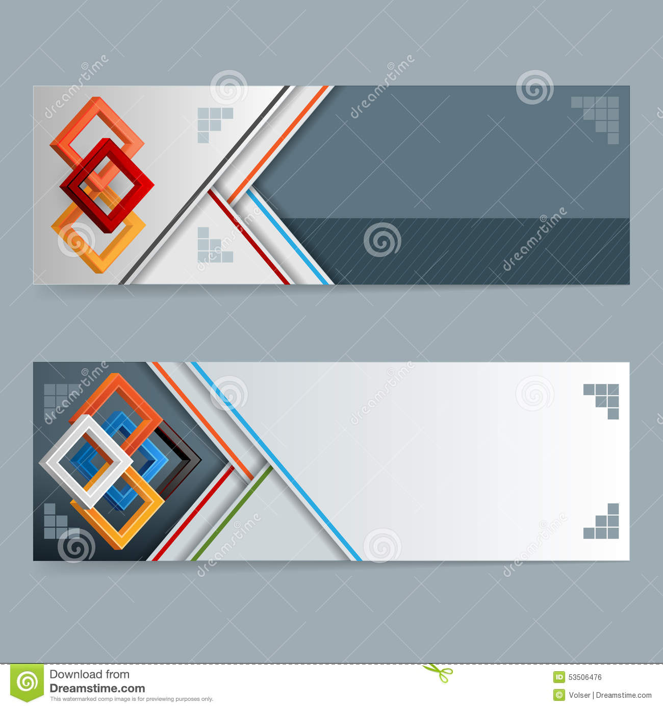 abstract design web banner header layout template set of banners